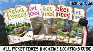 All PICKET FENCES Magazine Locations Guide for Fallout 4 Bonus Mag