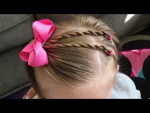 Twists into side half pony