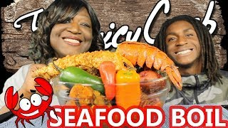 SEAFOOD BOIL MUKBANG | JUICY CRAB | KING CRAB | ICE EATING