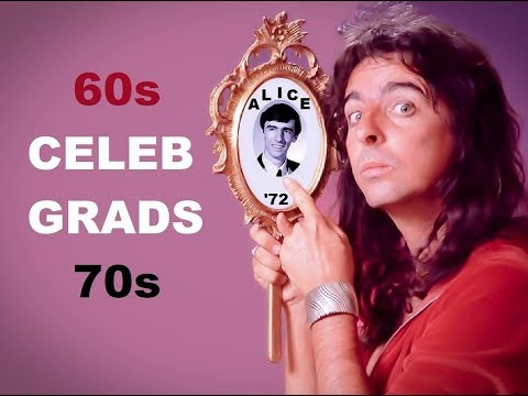 """School's Out"" 🍎 ALICE COOPER 🍏 60s & 70s Celebrity GRADS"