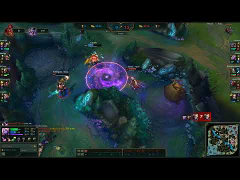 SORAKA SAVES EZREAL'S LIFE WITH AMAZING MOVES & than she almost lets him die, but she turns back
