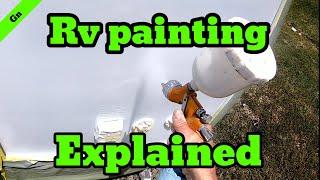 Rv painting explained #diy repair # paint repair