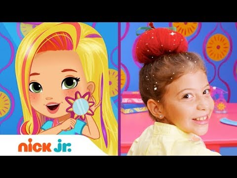 How To Make An Apple Updo 🍎  Style Files Hair Tutorial   Sunny Day   Nick Jr.