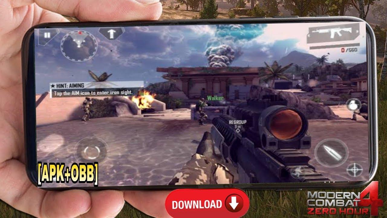 download modern combat 4 apk + data