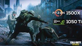 Call of Duty WW2 on Ryzen 1500X & Nvidia GTX1050 Ti