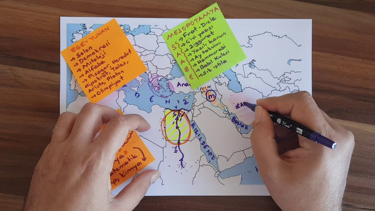 harita ile ilk cag medeniyetleri insanligin ilk donemleri 9 sinif tarih tyt ayt
