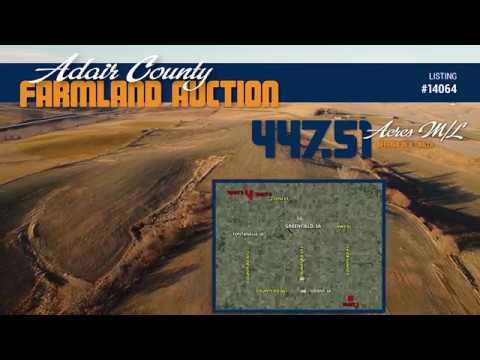447.51 Acres m/l Adair County IA - Land Auction