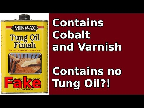 """Minwax """"Tung Oil"""" Finish is fake & poison"""