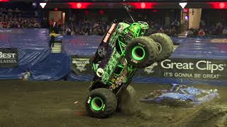 Grave Digger driver Tyler Menninga wins 2018 Monster Jam Triple Threat Series Central Championship