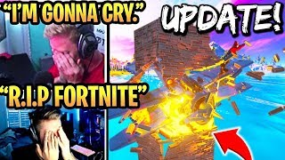 STREAMERS *HEARTBROKEN* after *EDITING REMOVED* in SEASON 2 Update! (RIP FORTNITE)
