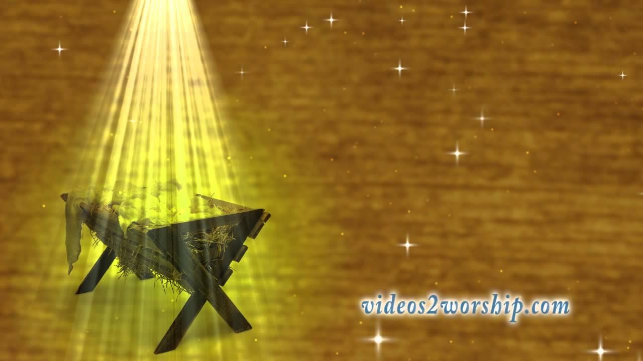 Christmas Manger Motion Background - YouTube