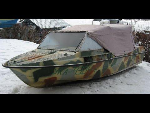 лодка обь в шторм