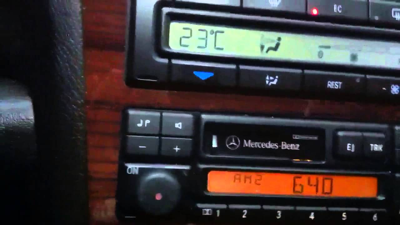 Mercedes Climate Control Panel Lighting R129 W208 W202