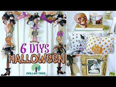 "🎃6 DIY DOLLAR TREE HALLOWEEN DECOR CRAFTS 🎃  ""I LOVE FALL"" ep. 31 Olivia's Romantic Home DIY"