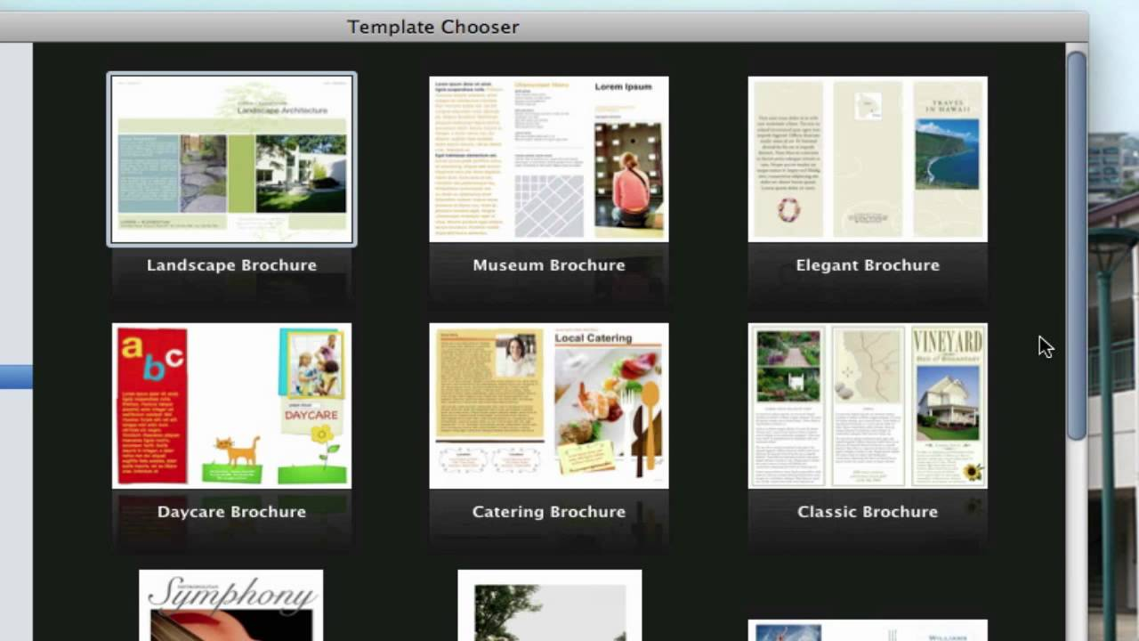 Use Pages On Macs To Create A Pamphlet VIEW DESCRIPTION YouTube - Elegant brochure templates