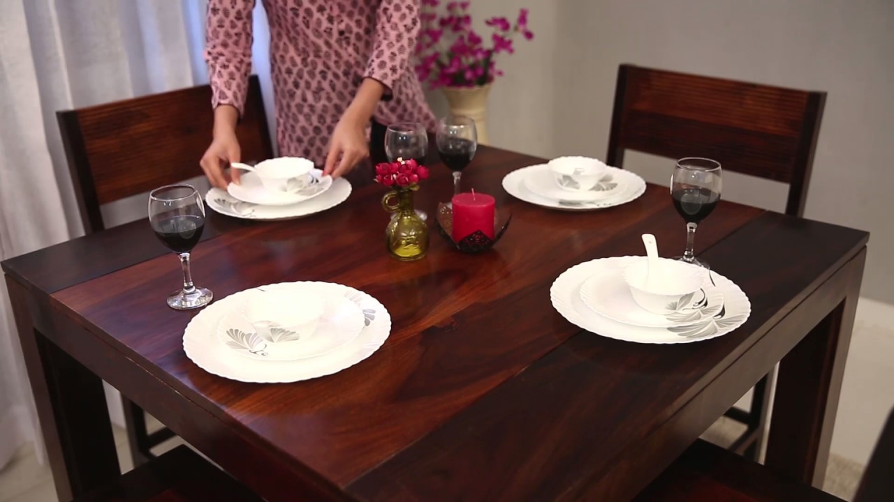 Dining Table Set Alvan 4 Seater Dining Table Set Online Wooden Street Youtube