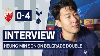 INTERVIEW | HEUNG-MIN SON ON BELGRADE DOUBLE | Crvena Zvezda 0-4 Spurs
