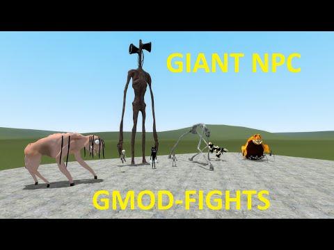 GMOD-FIGHTS NEW CRAZY NPC'S |
