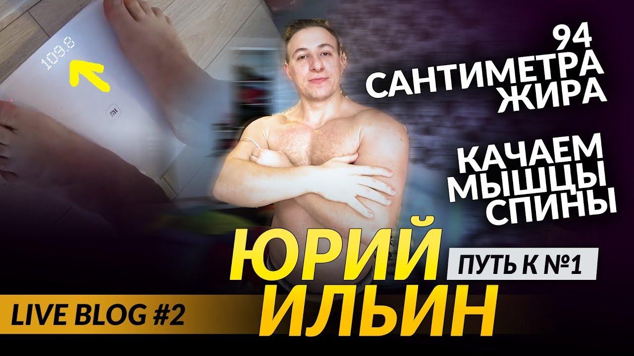 94 сантиметра жира / качаем мышцы спины /Юрий Ильин