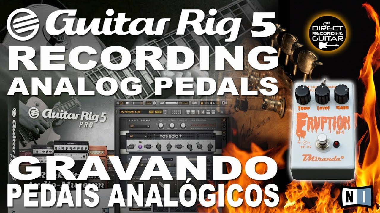 guitar rig 5 recording analog guitar pedals direct into usb interface youtube. Black Bedroom Furniture Sets. Home Design Ideas