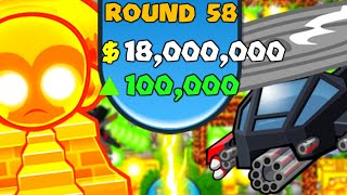 $18,000,000 INSANE LATEGAME! 100K ECO IN BANANZA MEGABOOSTS! (Bloons TD Battles)
