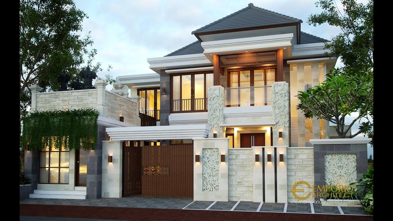 Jasa Arsitek Desain Rumah Villa Bali Tropis Ibu Citra di Denpasar, Bali - YouTube