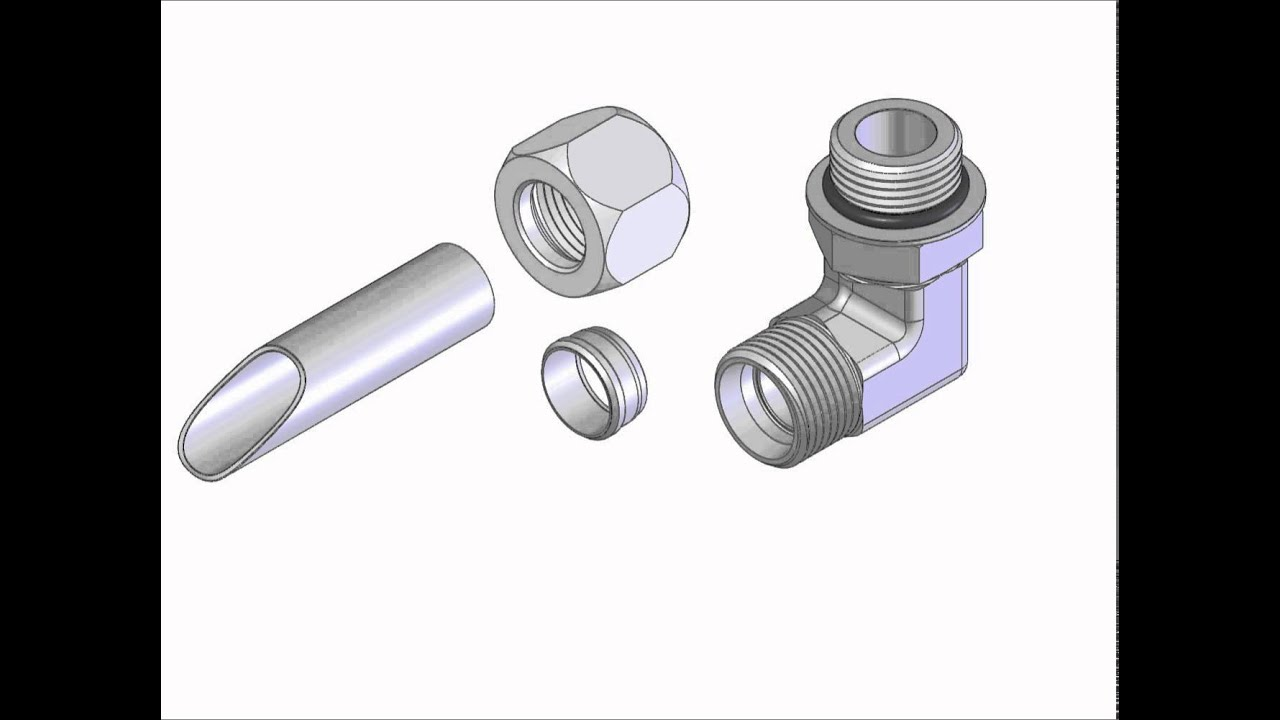 World wide fittings steel flareless assembly