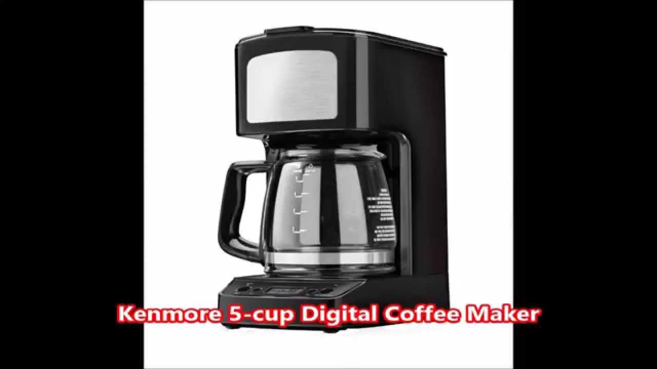 5 Cup Coffee Maker Kenmore 5 Cup Digital Coffee Maker Youtube