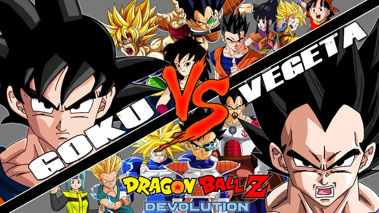 dragon ball z devolution gokus family vs vegetas