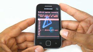 Samsung Galaxy Y GT-S5360, S5367, hard reset, como formatar, desbloquear, restaurar