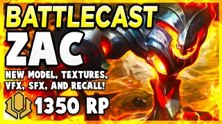 *NEW* BATTLECAST ZAC SKIN IS JUST BEAUTIFUL! - League of Legends PBE Gameplay