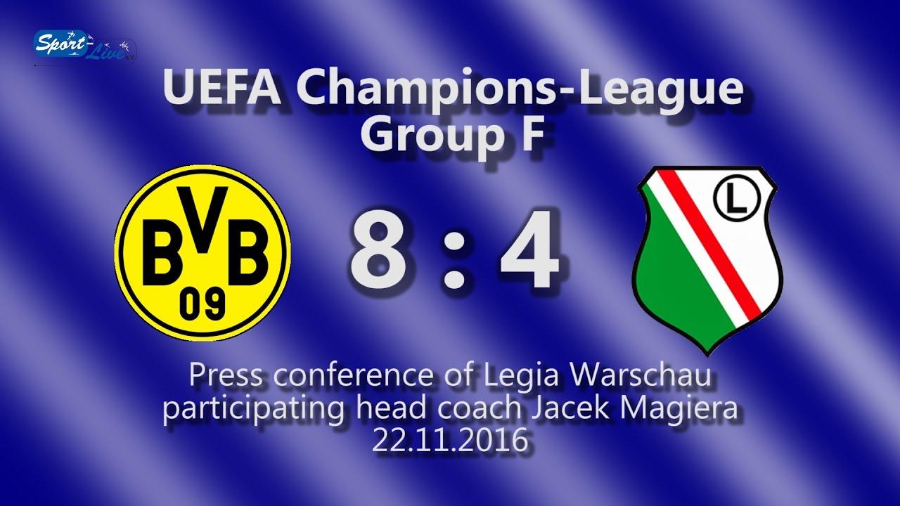 Borussia Dortmund – Legia Warschau: Pressekonferenz mit Jacek Magiera