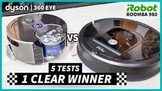 Roomba 980 vs Dyson 360 Eye - 5 Tests, One CLEAR Winner - #Ad Warren Nash