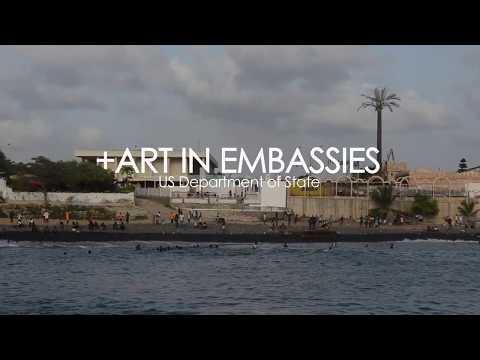 Mickalene Thomas mosaic mural in Dakar Senegal