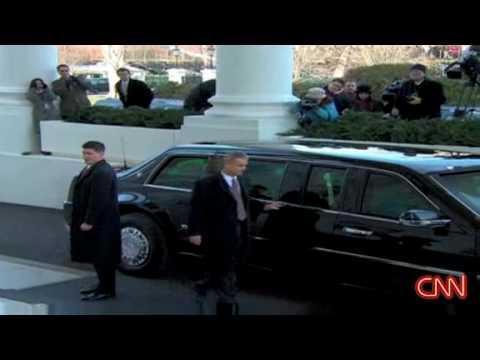 President Bush & Obama head to the Capitol