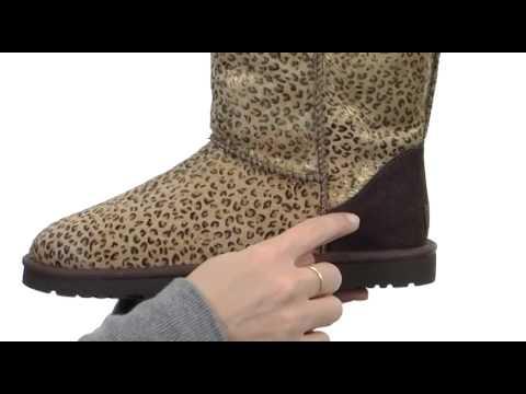 ugg classic short metallic leopard calf hair sku 8301219 youtube rh youtube com