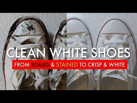 HOW TO CLEAN SHOES | White Sneakers Of Any Fabric/Mesh | EASY DIY For Cleaning Running Shoes