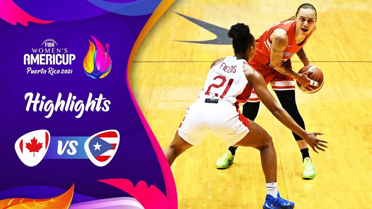 Canada - Puerto Rico | Semi-Finals | Highlights | FIBA Women's AmeriCup 2021