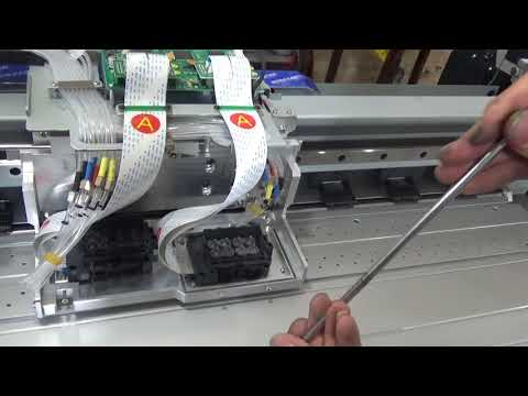 How to Install DX7 printhead, Printhead installation way.