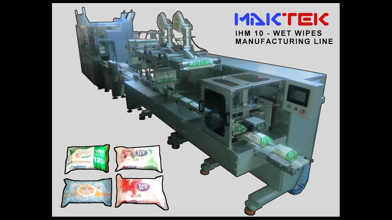 Wet Wipes Production Line and Lid Applicator Machine