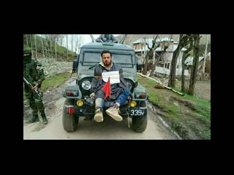 Kashmiri man tied in front of army's jeep, video goes viral