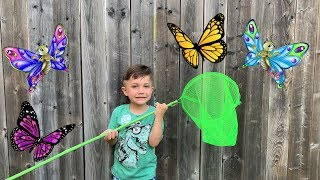 Learn and Play catch the color butterflies with Zack