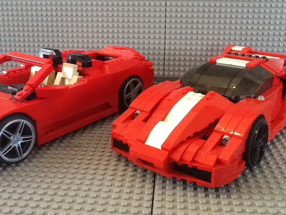 Lego Racer Ferrari Enzo And F 430 Spider Set 8652 8671 1
