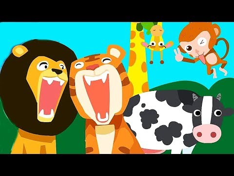 Learn The Common Animals & Feed The Litlle Animals With Food - Fun Educational Kids Games