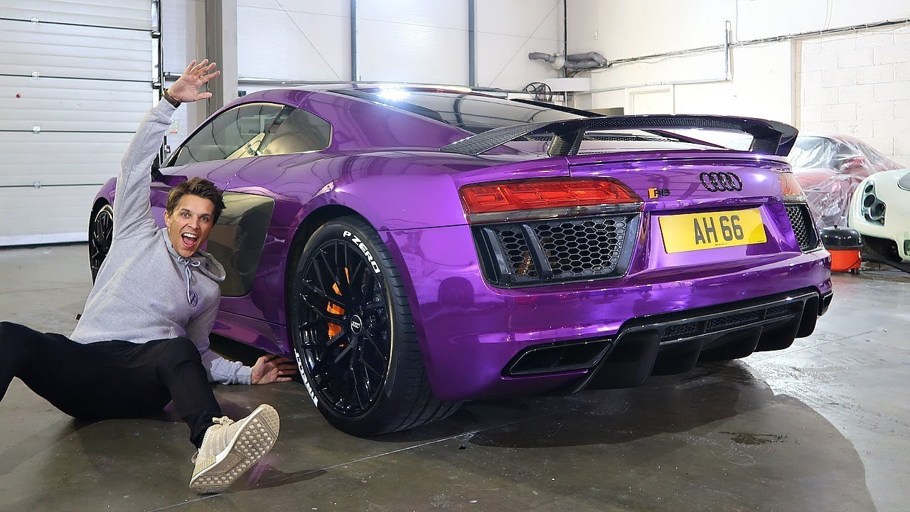 MY AUDI R8 REVEAL CRAZIEST WRAP EVER YouTube