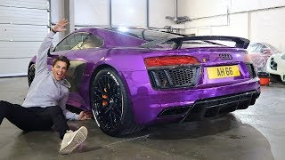 MY AUDI R8 REVEAL! CRAZIEST WRAP EVER?