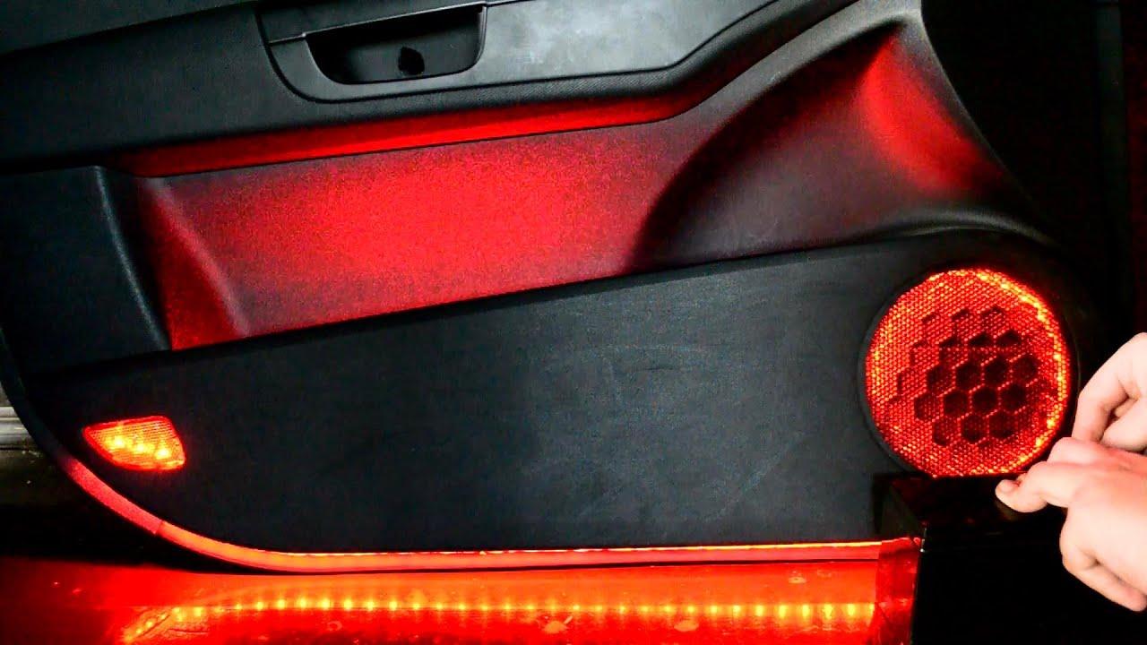 Установка подсветки дверей Kia Ceed