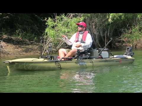 Fishing A Dropshot Rig For Big Bluegill From Kayak