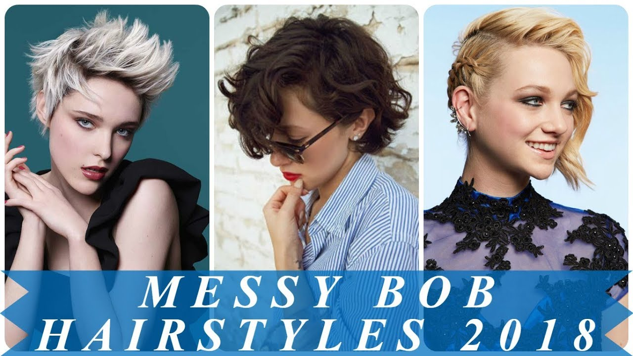 chic short messy hairstyles