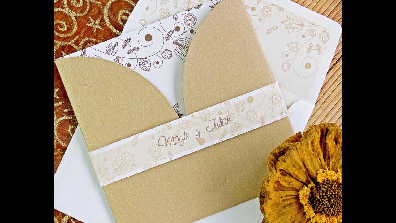 como hacer invitaciones de boda sencillas